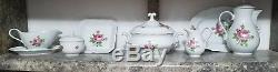 Vintage Bavaria TEA/Coffee POT ROSE FLOWER Includes entire set shown