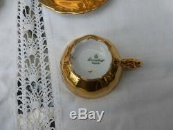 Vintage Bavarian Bereuther German Gold Coffee Set 15 pieces
