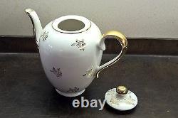 Vintage Bavarian Porcelain Coffee Tea for Two Set, includes Sugar Bowl & Creamer
