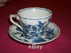 Vintage Blue Danube Porcelain Tea Coffee Set Ribbon Markings Reg. U. S. Pat. Off