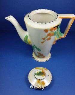 Vintage Burleigh Ware Zenith Meadowland Art Deco Coffee Set For Six