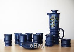Vintage Carlton Ware Blue Coffee/Tea 15 Piece Set