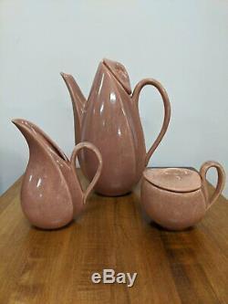 Vintage Chocolate Glaze Tea/Coffee set, cir 1940