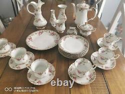Vintage Chodziez Polish Porcelain Coffee Set 26 Pieces. Polska porcelana 26pcs