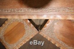 Vintage Coffee table set hand carved Malaysian teak