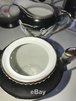 Vintage Complete Imperial White Dragon Coffee Set. Ship Worldwide