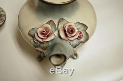 Vintage Cordey Tea Set Porcelain Pale Blue Creamer Sugar Tea Pot Coffee