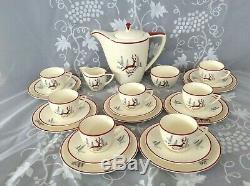 Vintage Crown Devon Stockholm 25 piece COFFEE SET. In EXCELLENT CONDITION. XMAS