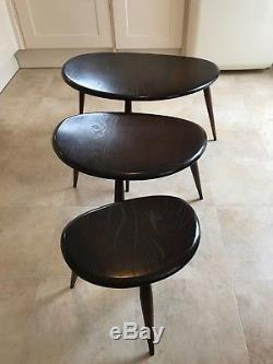 Vintage Ercol Pebble coffee table set