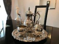 Vintage F. B. Rogers 4pc Silverplated Coffee Set, Great Condition
