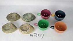 Vintage Feltman Langer Postmodern Coffee Mugs Set of 4
