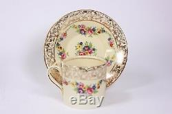 Vintage Four Place Coffee set Plated Stand Spoons Cups and Saucers Circa 1940