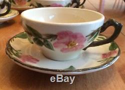 Vintage Franciscan Dessert Rose England Collectable Tea/coffee Set For 12