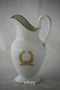 Vintage French 3 piece coffee set Porcelaine de Paris Napoleon III Empire