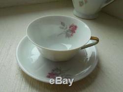 Vintage French Limoges porcelain 26 piece tea set / coffee set