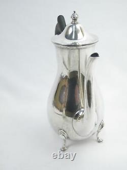 Vintage GEORGIAN Style STERLING Silver Coffee Pot Creamer Sugar Service Set of 3