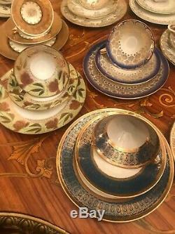 Vintage German Mixed 17 cup saucer cake plates Bavaria Winterling etc