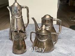 Vintage German Solid Silver Tea / Coffee Set c. 1900