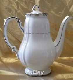 Vintage Gold China Baronet Japan Footed Coffee Set Pot, Creamer & Sugar Tea Set