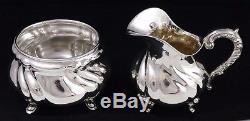 Vintage Handarbelt 835 Silver Tea + Coffee Service Set with Tray