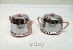 Vintage Heatmaster Kosy Tea & Coffee Set Rare Pink Glaze Stunning Unused UK Made