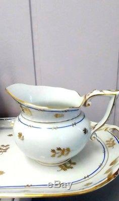 Vintage Herend Coronation Mocha coffee set with sandwich tray for 10 persons