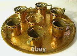 Vintage Israeli Hand Made And Hallmarked By Oppenheim Coffee Set