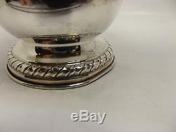 Vintage Italian Continental Silver Tea Coffee Pot 3 Piece Set. 800 Fine Silver
