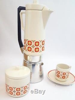 Vintage Italian Demitasse Coffee Espresso Set By Tognana Mid Century Modern