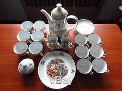 Vintage KAHLA Madonna 6-Person Porcelain Coffee Set GDR East Germany 60's-70's
