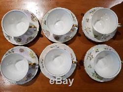 Vintage Kahla Porcelain Fine China Gold Rim Madonna GDR Coffee/Lunch Set Germany