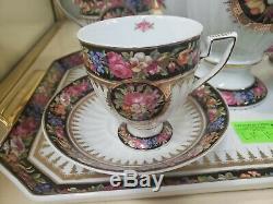 Vintage Limogo France Tea / Coffee Set for 2 Worth $250+++