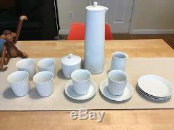 Vintage Lyngby Thermodan Coffee Set Denmark China Sugar bowl Creamer Cups Saucer