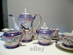 Vintage MTK CHINA JAPAN 15 piece coffee set Porcelain anni 40 handmade