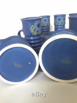 Vintage Mod Carlton Ware Blue Coffee/Tea 13 Piece Set C. 1960's Rare & Beautiful