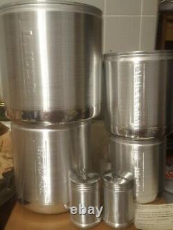 Vintage New 6 Century Aluminum Ware USA Tea Coffee Sugar Flour Canister Set New