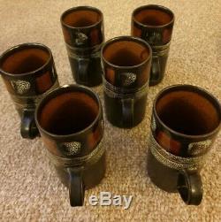 Vintage Newlyn Celtic Pottery Coffee Set
