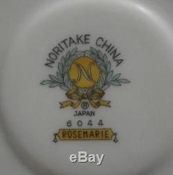 Vintage Noritake China Rosemarie Tea/coffee Pot Set Japan 15 Pcs