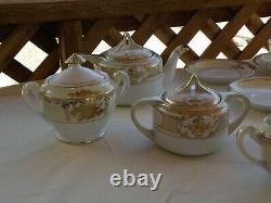Vintage Noritake Hand Painted China coffee/tea set ///// MAGNIFICENT