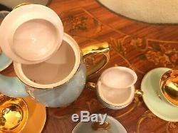 Vintage Norwegian Ceramic Porcelain Egersund 6 cups 6 Saucers Full Coffee Set