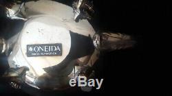 Vintage Oneida Silversmiths Silverplate Coffee Pot, Teapot, Ceamer, Sugar Sets