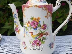 Vintage Paragon Rockingham Pink Coffee set