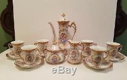 Vintage Porcelain Chocolate Tea Coffee Set ROYAL CROWN