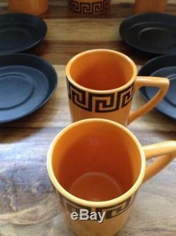 Vintage Portmeirion 1970s pottery coffee set Greek Key by Susan Williams Ellis