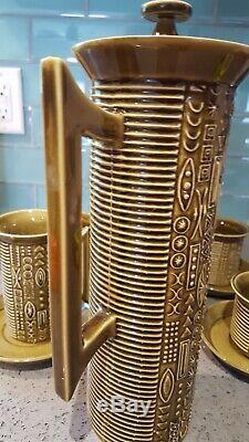 Vintage Portmeirion Cypher Olive Green Tea/coffee Set Susan Williams-Ellis MCM