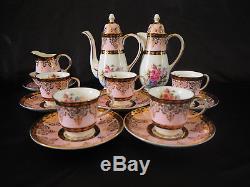 Vintage Princess Bone China Porcelain Tea / Coffee Set with Tea Pot 14pcs