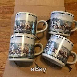 Vintage Ralph Lauren Polo Country Mug Coffee Set 1987 Equestrian Deadstock Japan