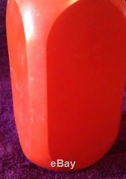 Vintage Red Fire King Coffee Tea Salt Pepper Glass Jar Set