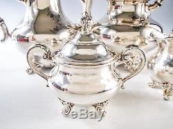 Vintage Reed Barton Silver Plate Coffee Tea Set Service 4 Piece Set Regent 5600