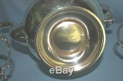 Vintage Reed & Barton Sterling Silver 3 pc. Coffee Tea Set THE PILGRIM